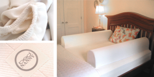 Picture of bed and fabrics